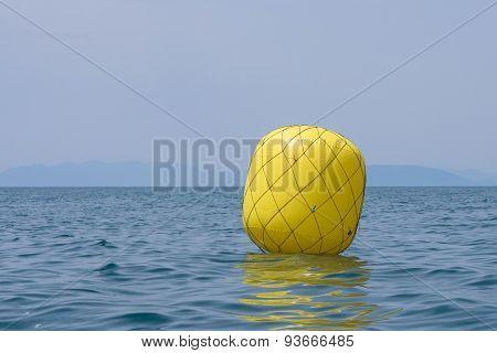 Yellow Buoy For Regatta