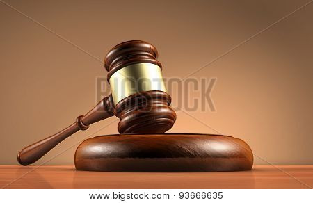 Law Judge Gavel And Legality Symbol