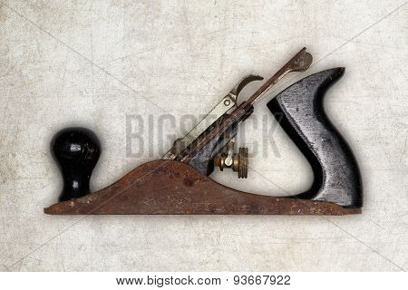 Old Carpenter Tool Planer, Isolated