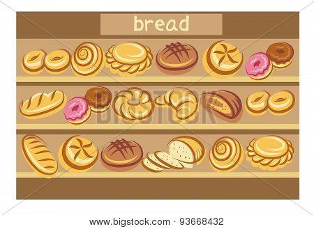 set of bread