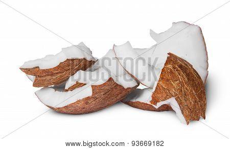 Several Pieces Of Coconut Pulp