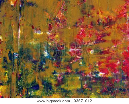 Abstract mixed media modern watercolor fine art painting, background or texture artwork created  with multiple layers of  mixed media elements.