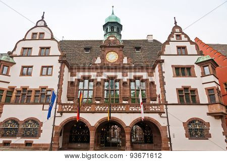 Old Town Hall (altes Rathaus) In Freiburg Im Breisgau, Germany