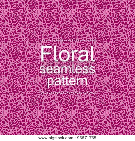 Red-violet floral seamless pattern
