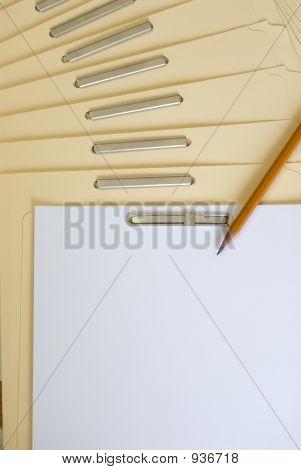Carpeta de archivos en blanco (lugar su mensaje aquí)