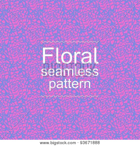 Pink-blue floral seamless pattern