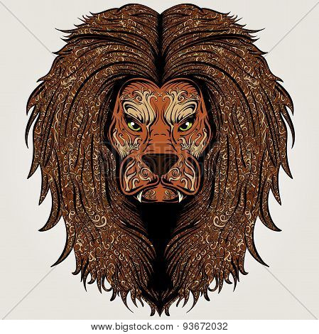 Lion brown colored