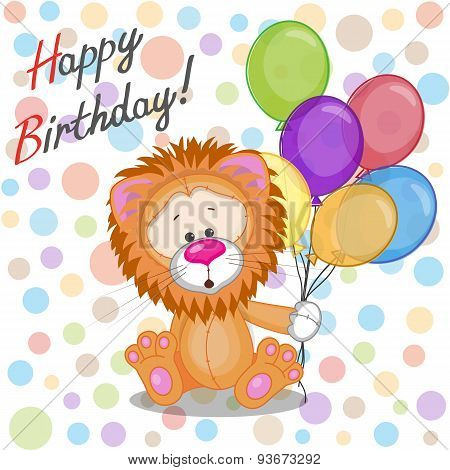 Lion With Balloons