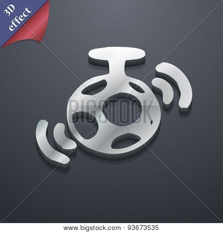 Mirror Ball Disco Icon Symbol. 3D Style. Trendy, Modern Design With Space For Your Text Vector