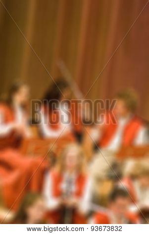Classical concert blur background
