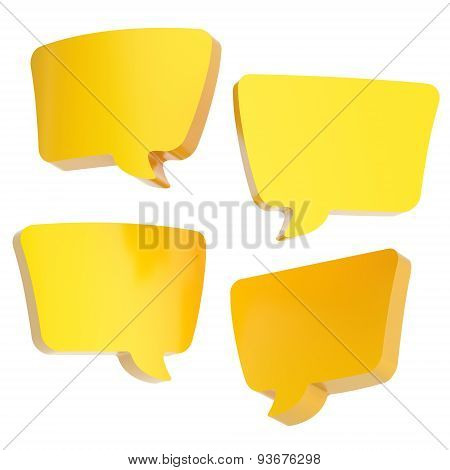 Text bubble shape isolated