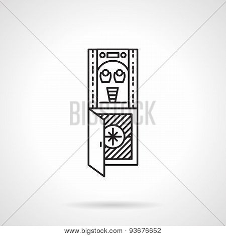 Flat line water freezer vector icon