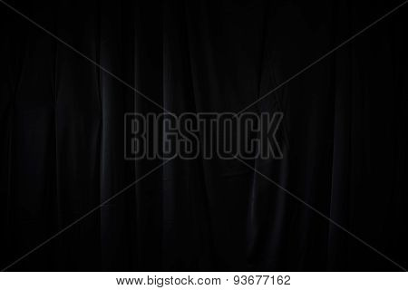 Curtain Or Drapes Dark Background