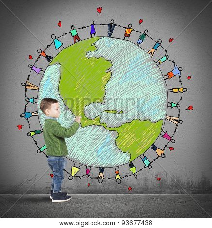Solidarity world of a child
