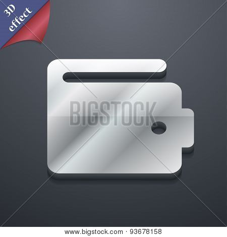Purse Icon Symbol. 3D Style. Trendy, Modern Design With Space For Your Text Vector