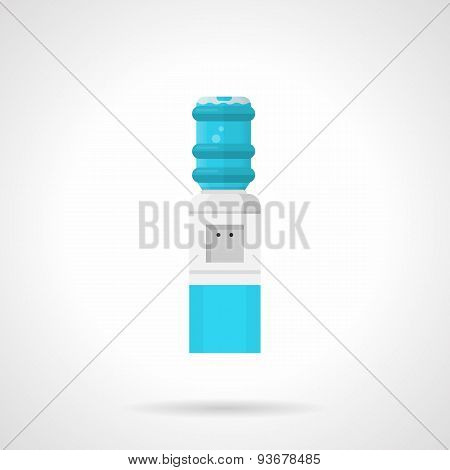 Automatic water cooler flat vector icon