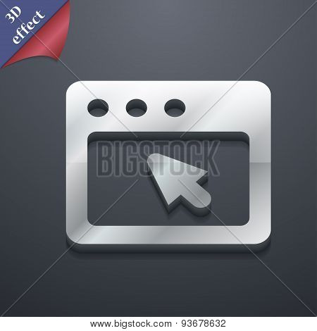 The Dialog Box Icon Symbol. 3D Style. Trendy, Modern Design With Space For Your Text Vector