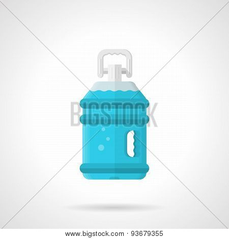 Bottled water flat vector icon