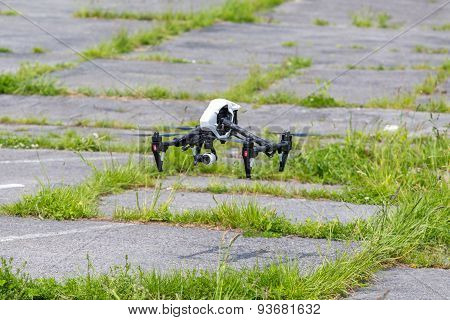 Small Drone On The Ground