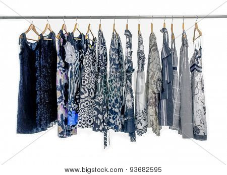 Fashion female clothes rack display
