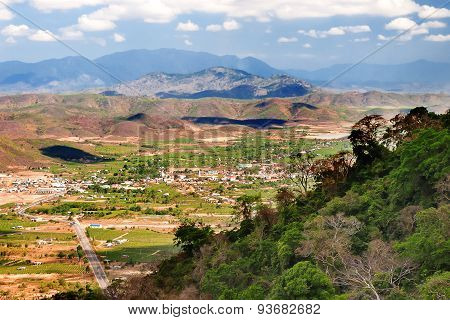 Impressive Landscape From Ta Cu Mountain, Binh Thuan Province, Vietnam. Panorama View On Sunny Day.