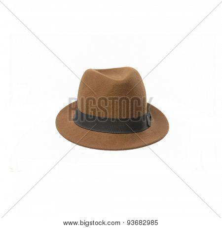 fedora hat isolated on white