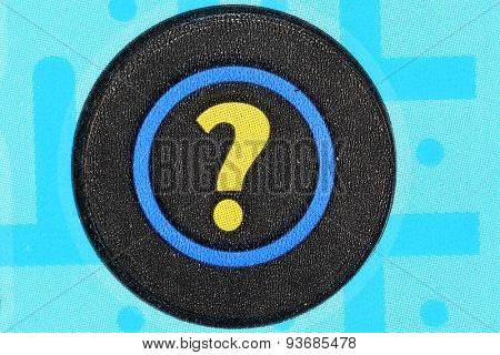 Coquitlam BC Canada - June 04, 2015 : Question mark on lottery ticket. The British Columbia Lottery Corporation has provided government sanctioned lottery games in British Columbia since 1985.