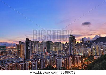 Downtown Of Hong Kong, High Density, Poor Area.