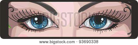 Beautiful Blue Eyes. Vector.eps