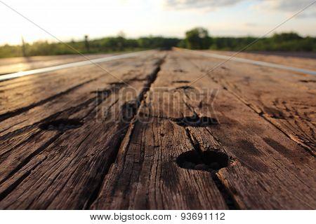 Worn Wood on Tracks
