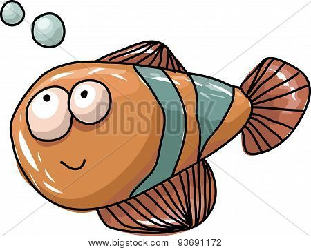 Cheerful Orange Fish. Vector.cdr