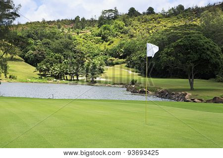 Beautiful golf course at the Constance Lemuria Resort.