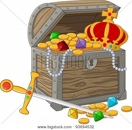 Cartoon Open Treasure Chest