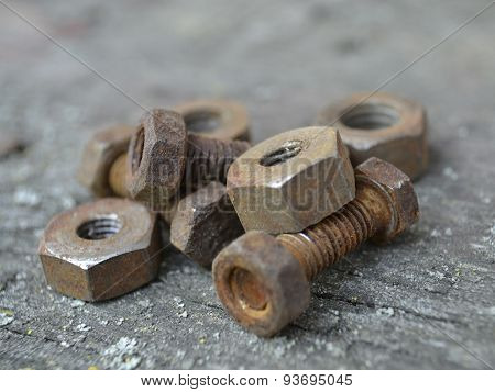 Rusty Bolts And Nuts