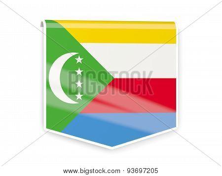Flag Label Of Comoros