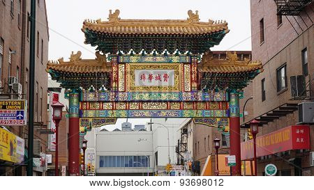 The Chinatown Friendship Gate in Philadelphia