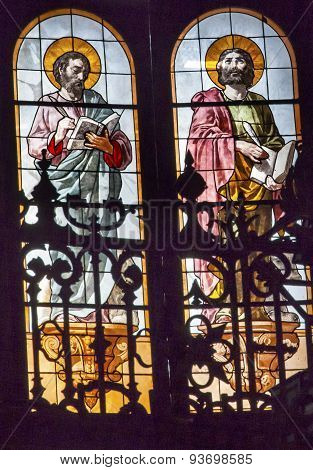 Gospel Writers Stained Glass San Francisco El Grande Royal Basilica Madrid Spain
