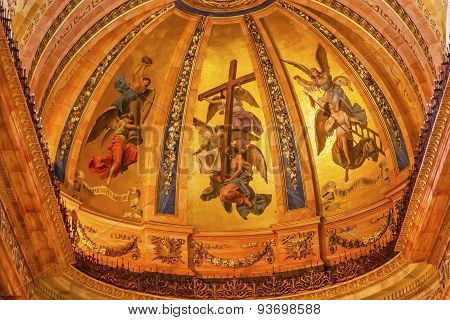 Golden Frescos Dome San Francisco El Grande Royal Basilica Madrid Spain