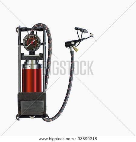 Foot Pump With Air Pressure Gauge