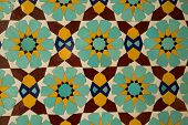 picture of tehran  - decorative tile panel in the 19th century Golestan palace in Tehran - JPG