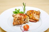 pic of thighs  - Roasted chicken thighs with herbs and spices - JPG