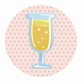 image of champagne color  - Champagne Theme Elements - JPG
