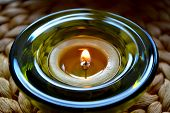 stock photo of candle flame  - cup  fire  flame glass  straw candles wax - JPG