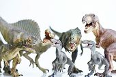 picture of pacific rim  - close up dinosaur model on white background - JPG