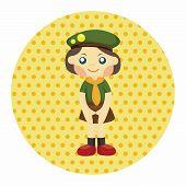 stock photo of boy scouts  - Scout Theme Elements - JPG