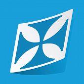 image of maltese-cross  - Sticker with maltese cross - JPG