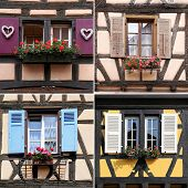 image of timber  - particular Alsace Architecture - JPG