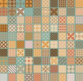 image of pattern  - 100 Retro different vector seamless geometrical patterns - JPG