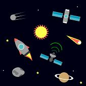 pic of saturn  - Flat space icons - JPG