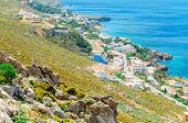 picture of greek-architecture  - Typical Greek houses on the coast - JPG